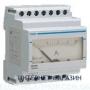 Амперметр аналоговый, прямого включения, 0-5 А~, Hager SM005